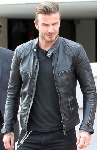 Men Motorbike Leather Jacket Inspired by David Beckham ...